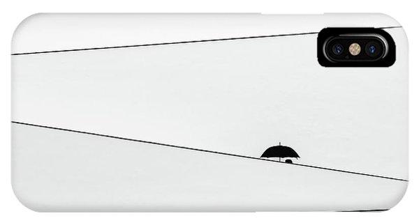 Umbrella iPhone Case - Over There, It's Raining by Fernando Correia Da