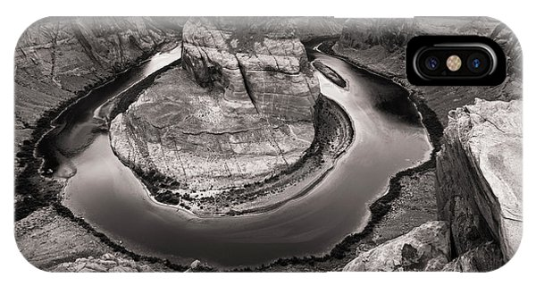 IPhone Case featuring the photograph Overcast At Horseshoe Bend by Brad Brizek