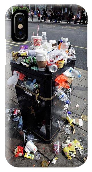 Rubbish Bin iPhone Case - Overflowing Litter Bin by Martin Bond/science Photo Library