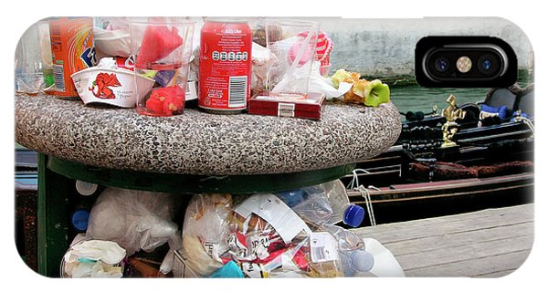 Rubbish Bin iPhone Case - Overflowing Litter Bin by Tony Craddock/science Photo Library