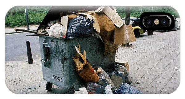 Rubbish Bin iPhone Case - Overflowing Rubbish Bin by Ton Kinsbergen/science Photo Library