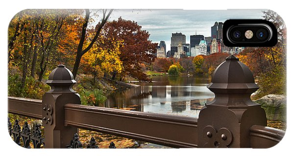 Overlooking The Lake Central Park New York City IPhone Case