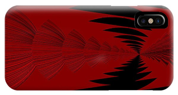 Red And Black Design IPhone Case