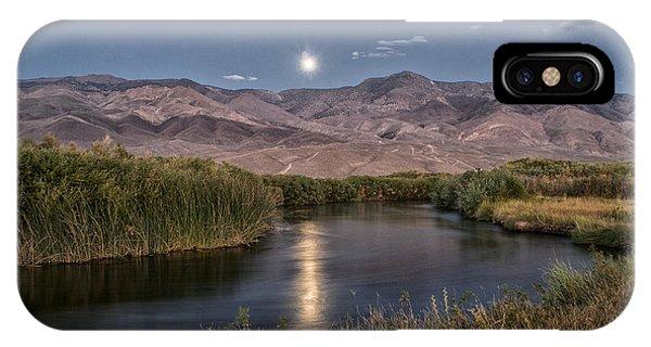 Owens River Moonrise IPhone Case