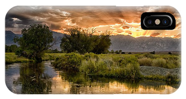 Owens River Sunset IPhone Case