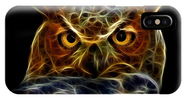 IPhone Case featuring the digital art Owl 4436 - F M by James Ahn