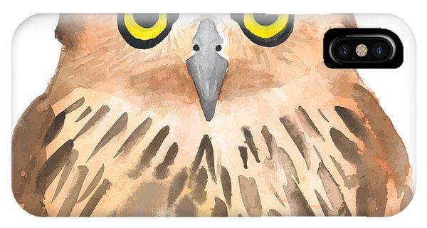 T Shirts iPhone Case - Owl Bird. Watercolor, Vector by Evgeniy Agarkov