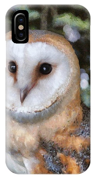 IPhone Case featuring the digital art Owl - Bright Eyes 2 by Paul Gulliver