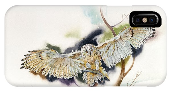 Owl Catches Lunch IPhone Case
