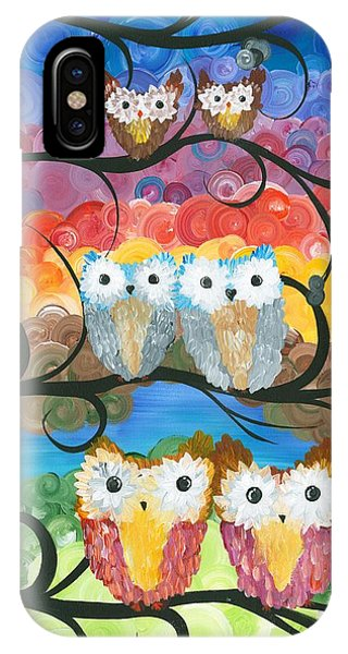 Owl Expressions - 00 IPhone Case