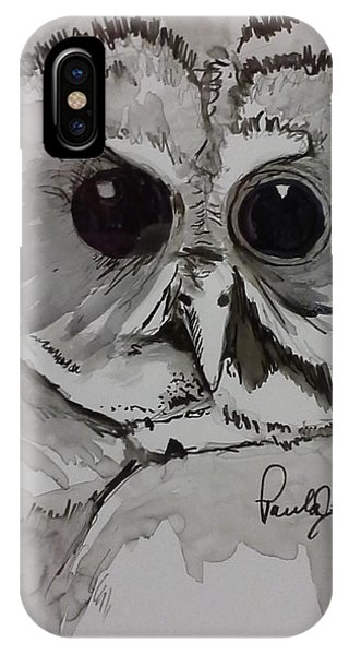 Owl Eyes Two IPhone Case