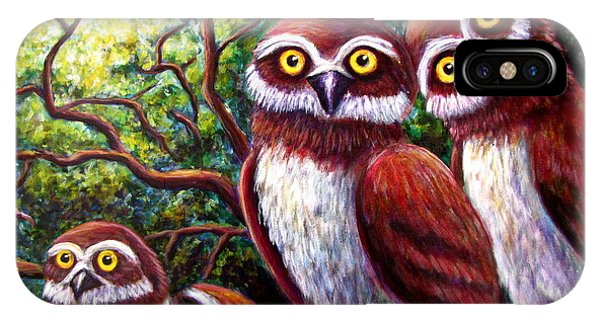 Owl Family Phone Case by Sebastian Pierre