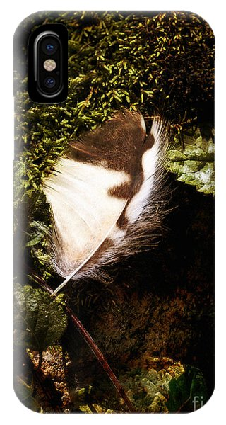 Owl Feather On Natures Canvas IPhone Case