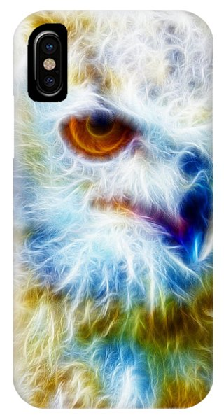 Owl - Filter Effect Manipulation IPhone Case