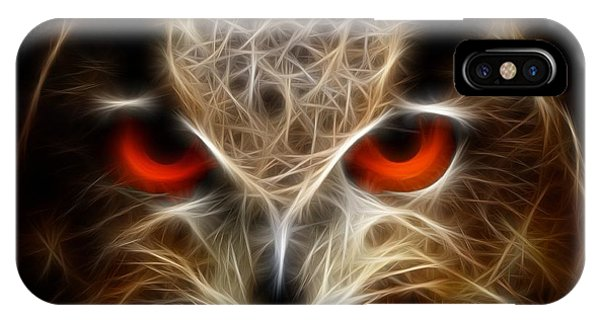 Owl - Fractal Artwork IPhone Case