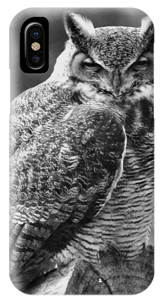 Owl In Black And White IPhone Case