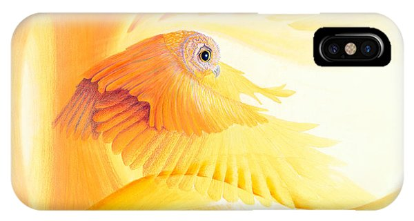 Animal iPhone Case - Owl In Tunnel by Robin Aisha Landsong