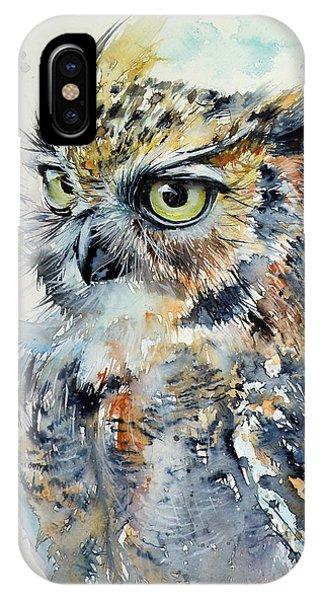 Wild Life iPhone Case - Owl by Kovacs Anna Brigitta