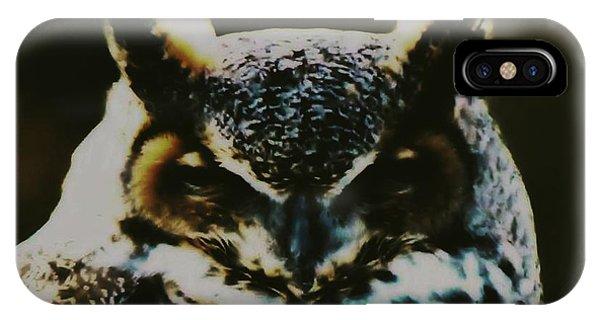 Owl Portrait IPhone Case