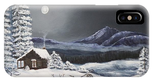 Owl Watch On A Cold Winter's Night Original  IPhone Case
