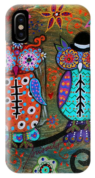 Owl Wedding Dia De Los Muertos IPhone Case
