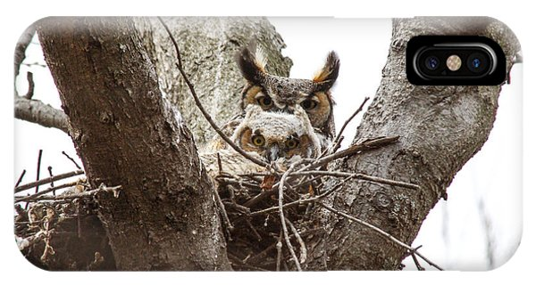 Owlet And Mom IPhone Case