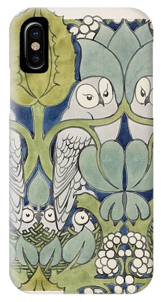 Wallpaper iPhone Case - Owls, 1913 by Charles Francis Annesley Voysey