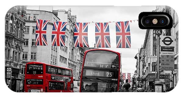 Oxford Street Flags IPhone Case