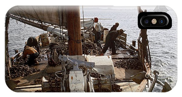 Skipjack iPhone Case - Oyster Dredge Boat by James L. Amos