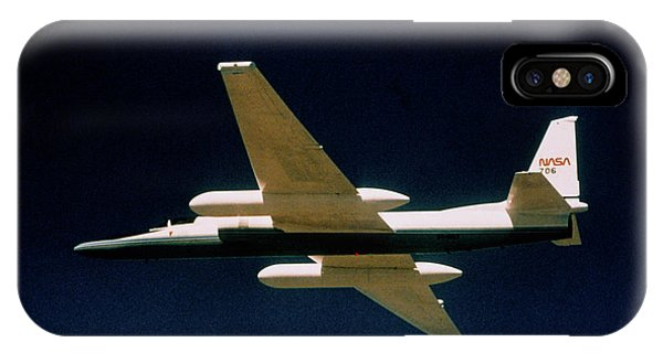 Er iPhone Case - Ozone Hole Research: Nasa Er-2 Aircraft In Flight by Nasa/science Photo Library