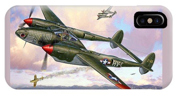 P-38f Lightning Sicilian Summer IPhone Case