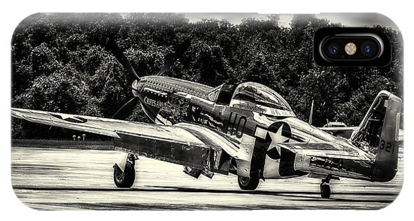 P-51 Mustang In Hdr IPhone Case
