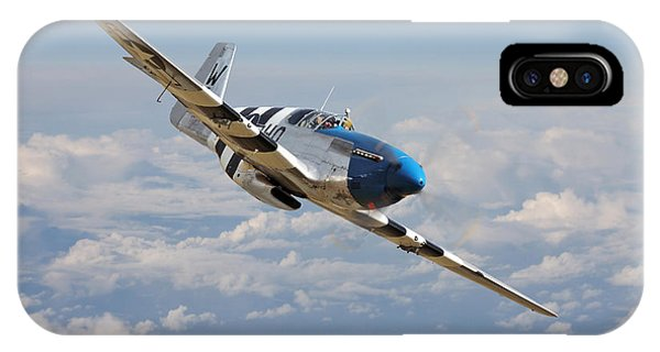 P51 Mustang - Symphony In Blue IPhone Case