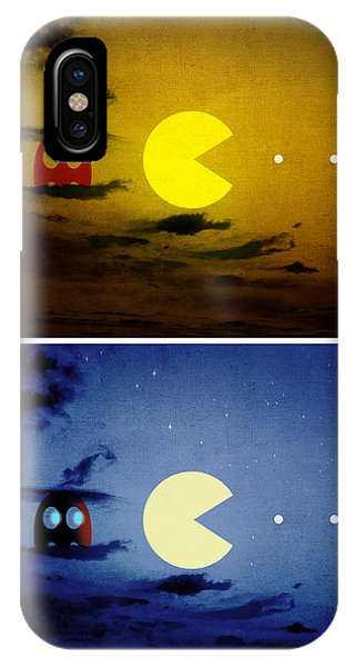 Pac-scape Vertical Diptych IPhone Case
