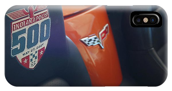 Pace Ride - Indianapolis 500 Corvette Phone Case by Steven Milner