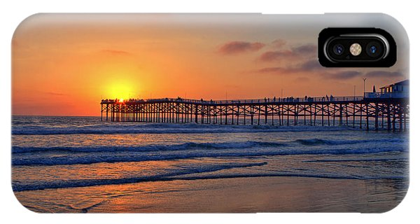Pacific Beach Pier Sunset IPhone Case