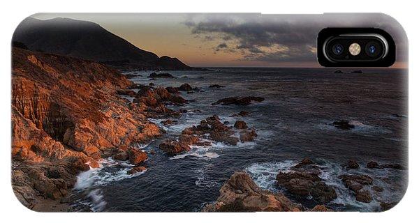 Pacific Coast Golden Light IPhone Case