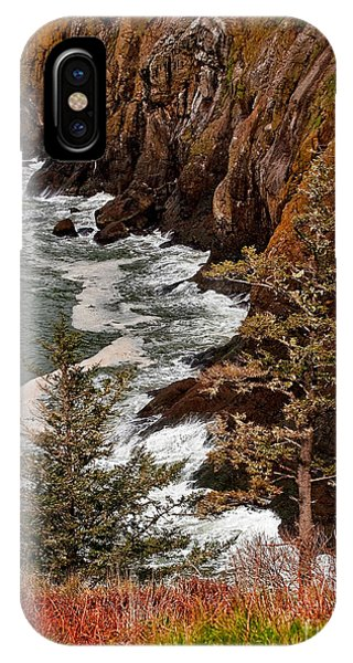 Pacific Ocean Cliff Line On Washington State Coast IPhone Case