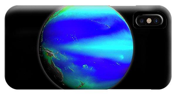 Phytoplankton iPhone Case - Pacific Phytoplankton Levels by Nasa/gsfc-svs/seawifs/geoeye