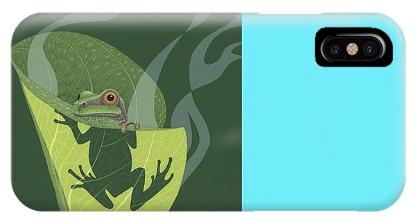Wildlife iPhone Case - Pacific Tree Frog In Skunk Cabbage by Nathan Marcy