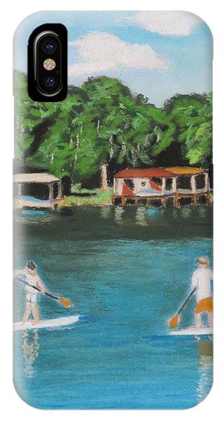 Paddle Boarding Lake Sue IPhone Case