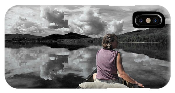 Paddling Attean Pond IPhone Case