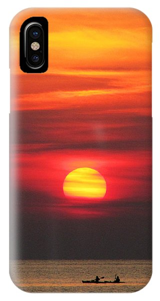 IPhone Case featuring the photograph Paddling Under The Sun by Richard Reeve