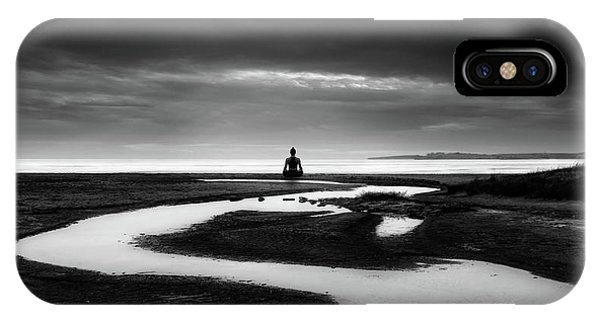 River iPhone Case - Padmasana by George Digalakis