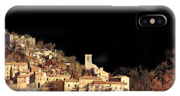 Night iPhone Case - Paesaggio Scuro by Guido Borelli