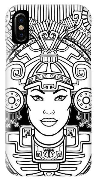 Tribal iPhone Case - Pagan Goddess. Motives Of Art Native by Zvereva Yana