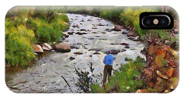 Pagosa Springs Colorado Fisherman IPhone Case