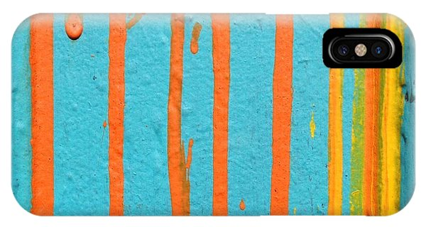 Orange iPhone Case - Paint Drips by Julie Gebhardt