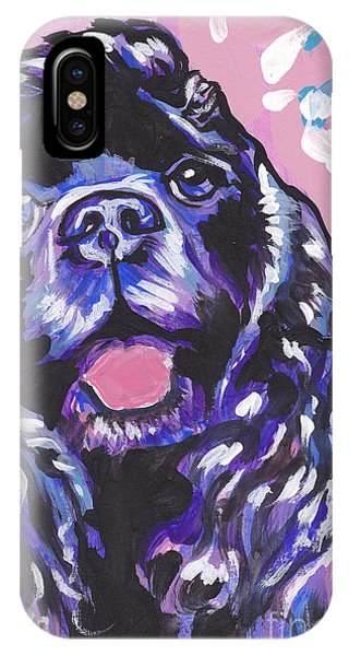 Cocker Spaniel iPhone Case - Paint It Black by Lea S