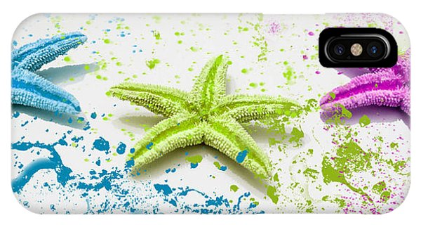 Paint Spattered Star Fish IPhone Case